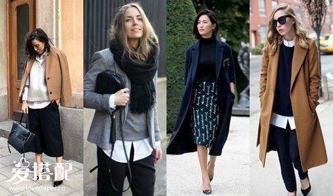 秋季OL职场女性叠穿技巧,这样穿搭最优雅