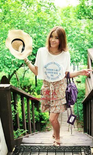 半身裙+T恤